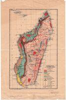 Madagascar : carte géologique et miniѐre