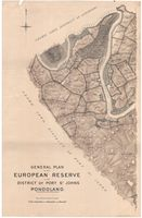 General plan of the European Reserve in the District of Port St. Johns, Pondoland. Sheet no. 1