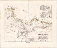 Karte der Nordküste Afrika's von Alexandria bis Tunis, nebst dem Koenigreich Fezzan