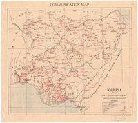 Communication map : Nigeria