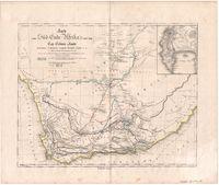 Karte vom Süd-Ende Afrika's und dem Cap-Colonie-Lande