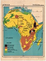 Africa : physical (diagram)