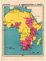 Africa : communications and towns