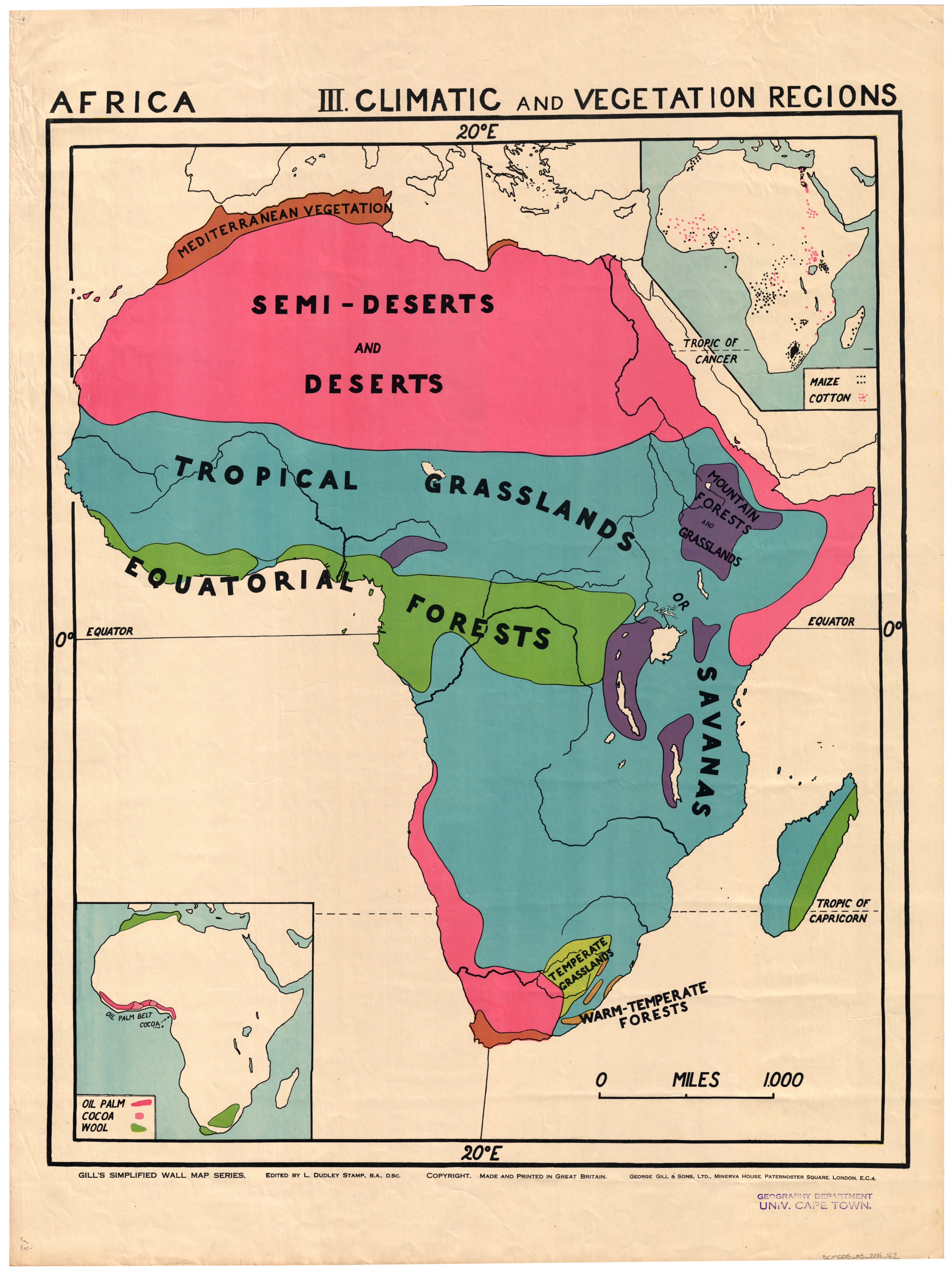 Map Of Africa Regions.Africa Climatic And Vegetation Regions Uct Libraries Digital