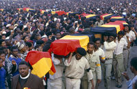 Mass funeral, East London, South Africa
