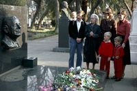 Family visiting grave of Hendrik Verwoerd, Pretoria, South Africa