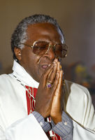 Archbishop Desmond Tutu in mourning, Soweto, South Africa