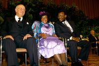 P.W. Botha, Princess Irene and Mangosuthu Buthelezi, Durban, South Africa