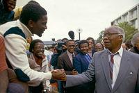 Govan Mbeki's release from prison, Port Elizabeth, South Africa