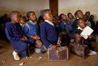 Black children at school, Johannesburg, South Africa