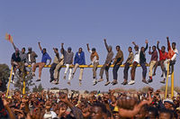 Political rally, Evaton Township, South Africa