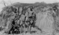 Angola !kung Goleba and family at Kutsi