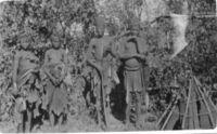 Angola !kung at Kamundonga's village Kunzumbia