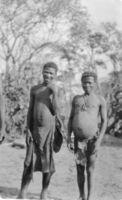 Angola !kung at Kaionga's village. Two brothers