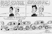 There goes the funeral procession of Walter Sisulu ---