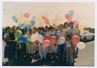 Free the Children balloon launch, Durban, January 1987