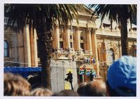 Inauguration Day of President Mandela at the City Hall Cape Town, from the Grand Parade