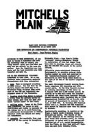 Free Enterprise and Home Ownership: Mitchells Plain Style -Paper Presented at National Conference 1980