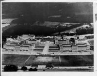 Slightly fuzzy aerial view before Jameson Hall was built