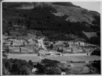 Aerial view of Upper Campus buildings