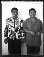 Nombuyiselo Mhlauli and Nyami Goniwe, Cradock Four widows, Cape Town, 1998