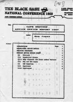 Cape Western Advice Office Report 1987