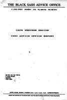 Cape Western Region 1990 Advice Office Report