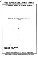 Advice Office Annual Report 1991
