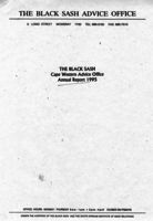 The Black Sash Cape Western Advice Office Annual Report 1995