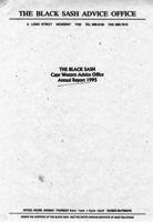The Black Sash Cape Western Advice Office Annual Report 1995